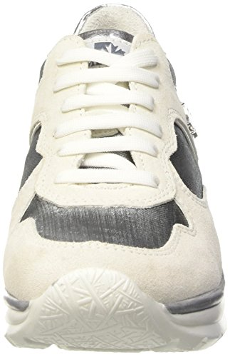 Mujer Spider Zapatillas Plateado Silver M0244 Off Para Altas White Uq6wn