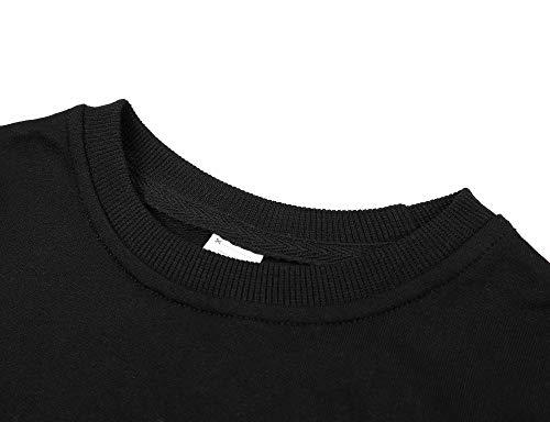 Sociala Black Sweatshirt Kids Boys Crewneck Sweatshirts 100 Cotton Truck 4 by Sociala (Image #3)