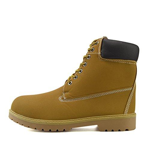 Inverno Calda Footwear Kick Outdoor Pelliccia Alti Boots Scarpe Foderato Comfort Cammello Cuoio Mens wdfIqgSAI