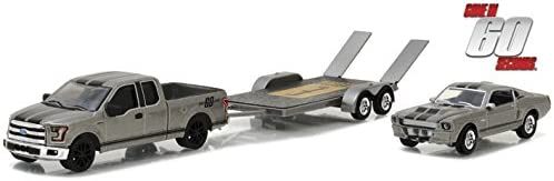 GREENLIGHT HITCH /& TOW GONE IN 60 SECONDS 2 CAR AND TRAILER SET 2015 FORD F 150 PLUS 1967 ELEANOR MUSTANG WITH TRAILER AND RAMPS 1//64 DIECAST MODELS