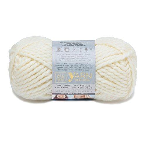 Darice All Things You, Wool and Acylic Blend Yarn, Fleece
