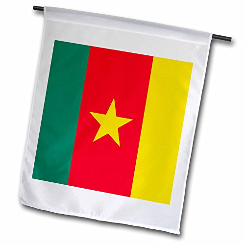Cameroon T-shirt Flag - 3dRose fl_31540_1 Cameroon Garden Flag, 12 by 18-Inch