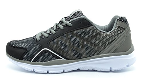 c315801a02e DREAM PAIRS 160373-M Men s New Flexible Recreational Athletic Running Sport Sneakers  Shoes BLACK GREY