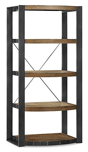 Whalen Furniture Santa Fe Storage Shelf and Audio Tower Stand Audio Rack Storage Set