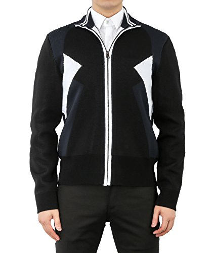 wiberlux-neil-barrett-mens-color-blocked-zip-up-knit-jacket-m-black