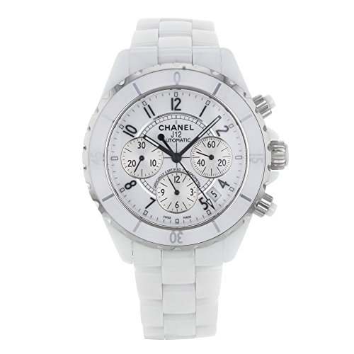 Price comparison product image Chanel J12 Chronograph White Ceramic Unisex Watch H1007