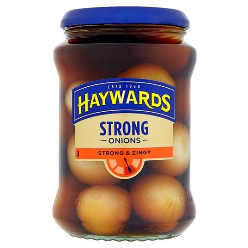 Haywards Strong & Zingy Onions 400g (Pack of 3) (Garners Pickled Onions)
