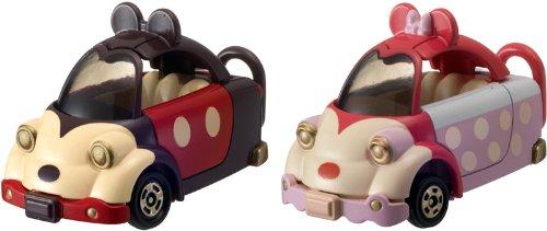タップンタップ ミッキーマウス(ブラウン×レッド)&ミニーマウス(ピンク)セット 「トミカ ディズニー ピクサーモータース DM-18」