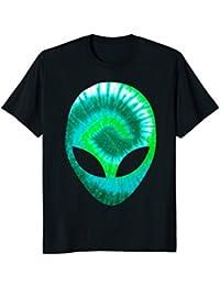 Alien Head T-Shirt Extra-terrestrial Green Holographic Glow