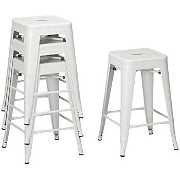 Amazon Com Changjie Furniture Backless Metal Bar Stool