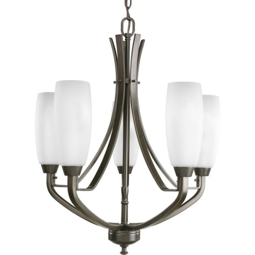 436-20 5-Light Westin Chandelier, Antique Bronze (Transitional Twenty Light Chandelier)