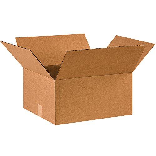 """BOX USA B1614850PK Corrugated Boxes, 16"""" L x 14"""" W x 8"""" H, Kraft (Pack of 50) from BOX USA"""