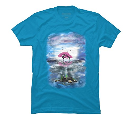 flowering-trees-and-treasures-mens-graphic-t-shirt-design-by-humans