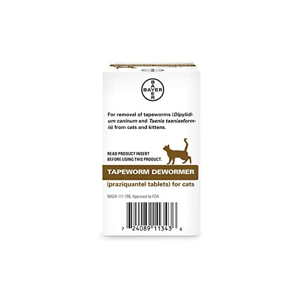 Cat Health Products Bayer Tapeworm Dewormer for Cats 6 weeks and older [tag]