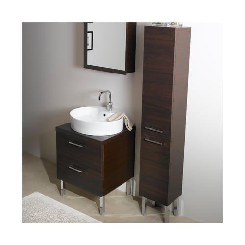 Iotti Iotti A13-Wenge-637509899998 Aurora Collection Bathroom Vanity, Wenge - Iotti Aurora Collection