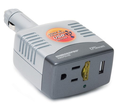 175w Power Inverter (PowerDrive 175 Watt DC to AC Power Inverter with Swivel 12-Volt Plug and USB Port)