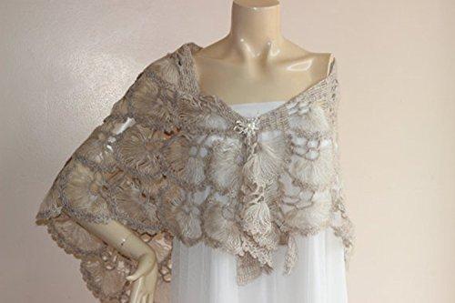 Amazon Stone Bridal Shawlwinter Wedding Crochet Shawlbridal