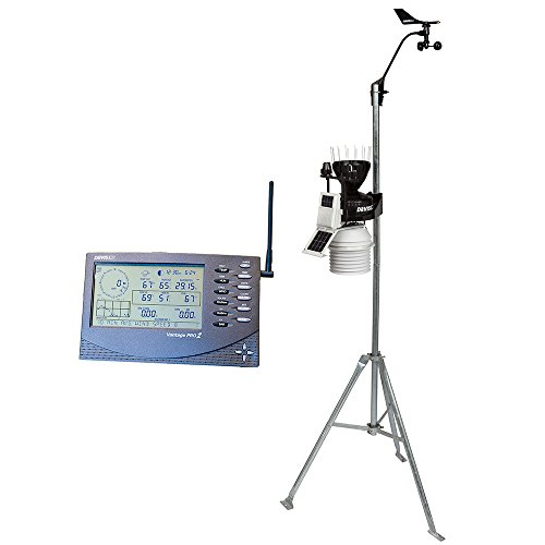 Davis Instruments 6163 Vantage Pro2 Plus Wireless Weather Station with UV Sensor, Solar Radiation Sensor and 24-hr Fan-Aspirated Radiation Shield ()