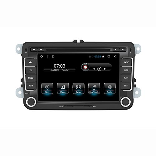 Henhaoro Android 7.1 car stereo Head Unit 7'' screen for Vw Volkswagen Jetta Golf Passat Polo EOS In Dash Double 2 Din Car Dvd CD Gps Navigation Player receiver Touch Screen Radio by Henhaoro