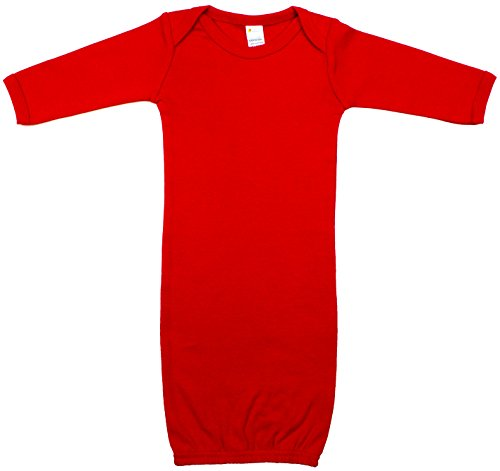 Red Sleeper - Earth Elements Baby Long Sleeve Gown 0-3 Months Red