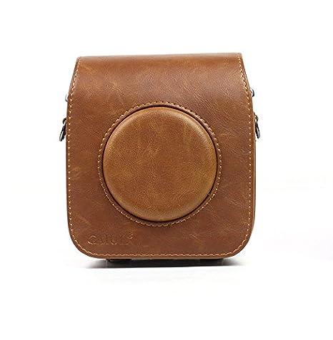 /Funda de piel sint/ética para c/ámara Fujifilm Instax cuadrado SQ10 Bolsa Caso Cubierta de la bolsa con correa para el hombro c/ámara Carry protecci/ón/