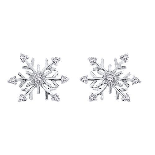 Earrings Cluster Silver Diamond (Diamond
