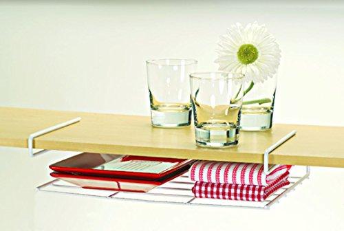 Better Houseware Undershelf Placemat, Platter & Tray Holder, White Coated Steel