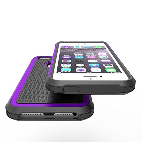 iPhone 5 5S situation Hankuke Shock Absorption great Impact protected Hybrid two Layer Armor Defender extensive Body Protective Cover situation for iPhone 5 5S black purple Cases