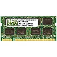 2GB DDR2 800MHz PC2-6400 SODIMM for Apple White MacBook 13.3 Intel Core 2 Duo 2.13GHz (MacBook 5,2)