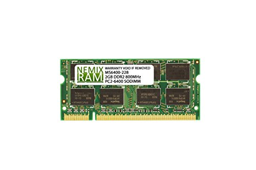 6400 Memory Notebook (Kingston ValueRAM 2GB 800MHz DDR2 Non-ECC CL5 SODIMM Notebook Memory)