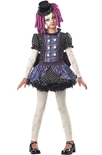 Broken Doll Child Dress Up Halloween (Broken Doll Faces For Halloween)