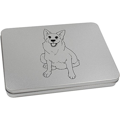 Azeeda 220mm 'German Shepherd Dog' Metal Hinged Tin / Storage Box (TT00040382)