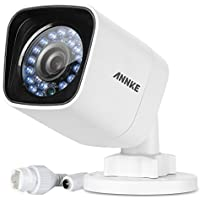 ANNKE 1080p Bullet Outdoor Security Camera Poe IP Camera, 1920X1080 Resolution, IP66 Waterproof, Super Day/Night Vision, Infrared Motion Detection