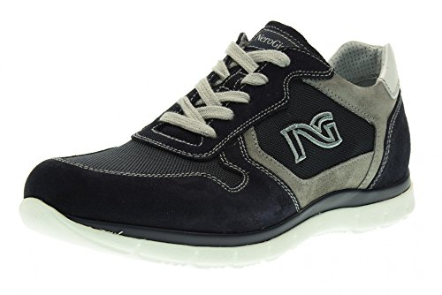 NERO GIARDINI hombre bajas zapatillas de deporte P704921U / 200 Azul