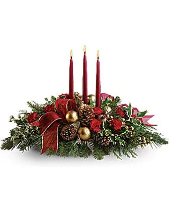 All is Bright (Christmas Teleflora Centerpieces)