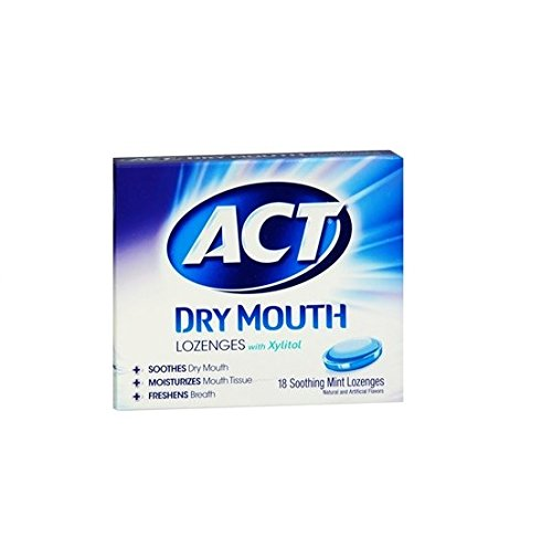 ACT - Total Care Dry Mouth Lozenges, Mint - 18 (Organic 18 Lozenges)