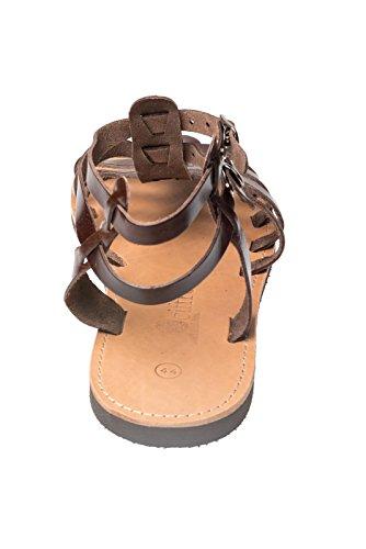 Ciffre Hecho a Mano Superior de Tiras de Cuero Genuino de La Sandalia de Grecia Creta EN Beige Beis Blanco Negro Marron. Tamaño 36-47 Marron