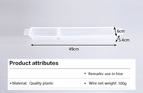 Beekeeping Cage Queen Bee White Plastic Hive Feeder Bee Groove Feeding Device Hive Box Beekeeping Tools by LEO_Garden (Image #2)