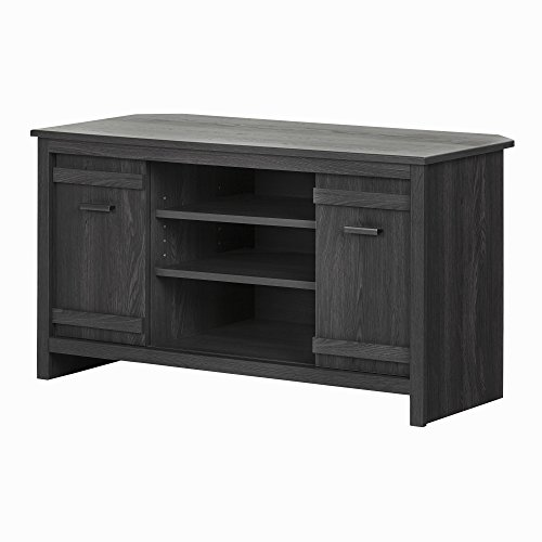 (South Shore Exhibit Corner TV Stand with Sliding Doors for TVs up to 42