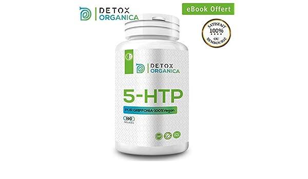 Detox Organica 5 HTP 200 mg-180 gélules Griffonia 100% naturel ...