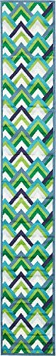 Unique Loom Metro Collection Abstract Scales Modern Bright Colors Blue Runner Rug 2 0 x 13 0