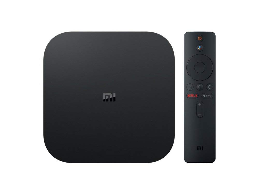 Xiaomi Mi Box S - Smart Tv Box 4K, control por voz, quad-core, RAM 2 GB, 8 GB memoria interna, WiFi, HDMI, Bluetooth y Android 8. Botón acceso directo Netflix