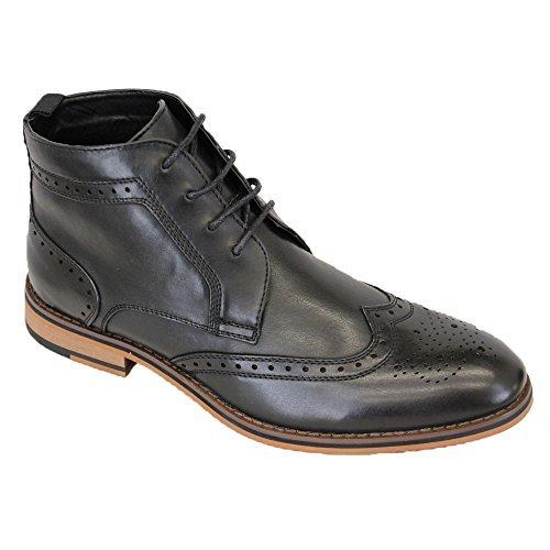 Botas Hombre Cavani Zapato Oxford Piel Sintética con Cordones Altas Tobillo Zapatos Formales Nuevo: Amazon.es: Zapatos y complementos