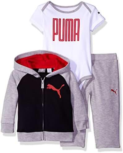 PUMA Boys' 3-Piece Hoodie and Pant Set