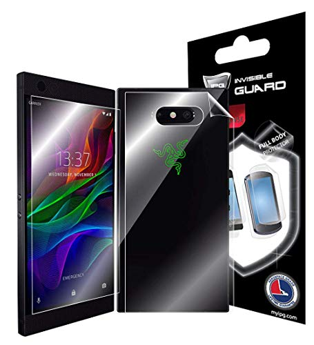 IPG for Razer Phone 2 Full Body Protector Invisible Touch Screen Sensitive Ultra HD Clear Film Anti Scratch Skin Guard - Smooth/Self-Healing/Bubble -Free Screen & Back by IPG