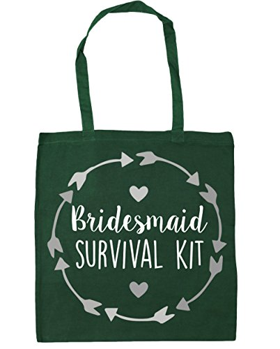 Shopping Gym 42cm Beach Bridesmaid Green survival 10 litres Bottle kit Tote HippoWarehouse x38cm Bag nTXp1qFnI