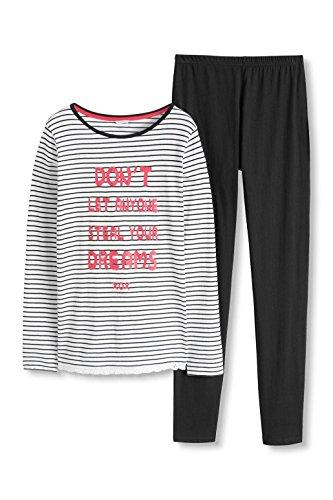 ESPRIT Mädchen Zweiteiliger Schlafanzug Abril YG Pyjama shirt1/1, Weiß (White 100), 164