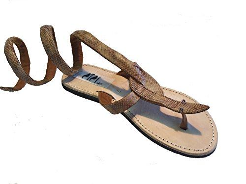 SISI mbili - Sandalias de vestir de Piel para mujer beige arena 36