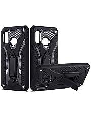 COOVY® Fodral för Samsung Galaxy A40 SM-A405F/DS/SM-A405FN/DS skydd case, dubbelskikt plast + TPU silikon, extra stark, stötdämpande, stativfunktion | svart