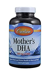 Carlson Labs Mother's DHA, 500mg, 120 Softgels